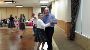 Yes, this is me!-Dancing the sock hop with my husband Hughie.