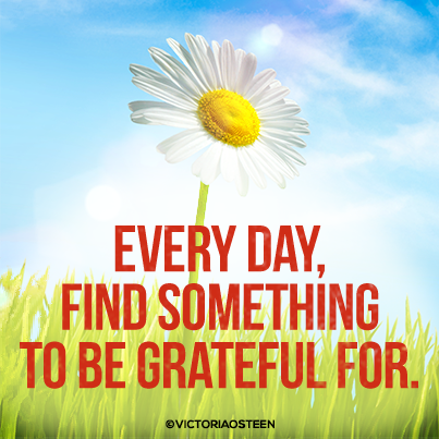 Every Day, Find Something To Be Grateful For